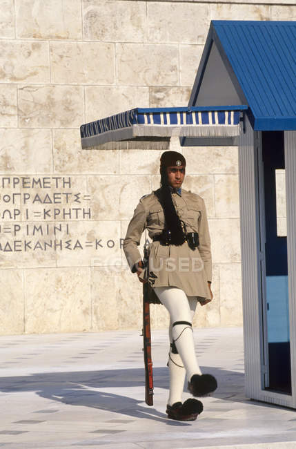 Griechenland, Athen, Wache im Parlament — Stockfoto