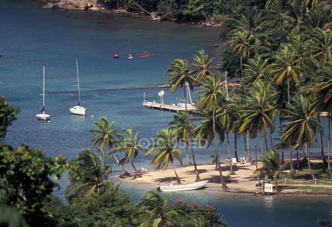 Santa Lucia Marigot Bay — Photo de stock