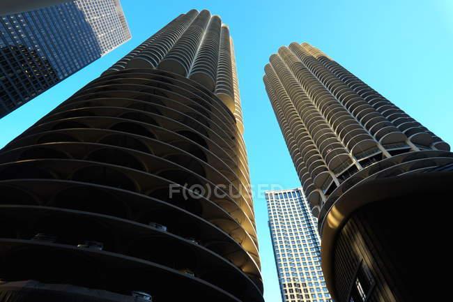 Chicago, vue sur les tours Marina — Photo de stock