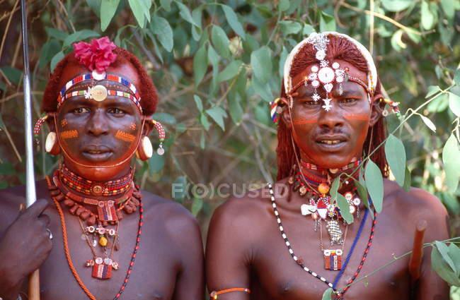 Ritratto di guerrieri di Samburu — Foto stock