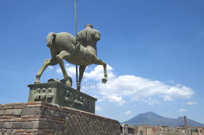 Equestrian statue by Igor Mitoraj — Stock Photo