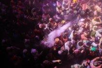 Holi festival in temple — Stock Photo