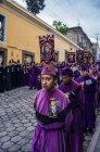 Крестный ход в Кесальтенанго — стоковое фото