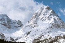 Дистанционный горный ландшафт — стоковое фото