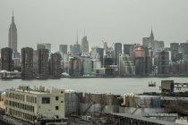 Vista dell'orizzonte del distretto di Brooklyn — Foto stock