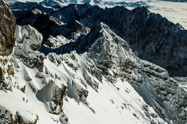 Sommets montagneux Zugspitz, Ehrwald — Photo de stock