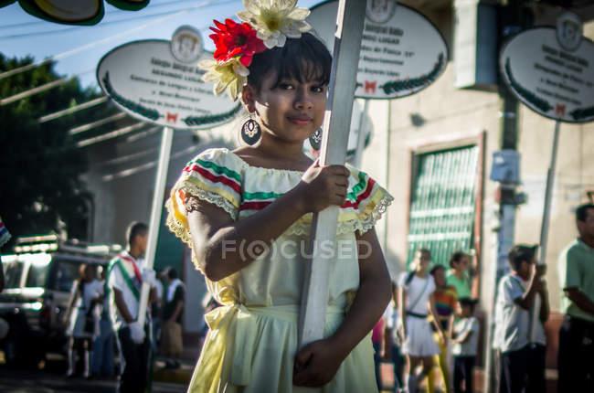 Парад в Гранаде, Никарагуа — стоковое фото