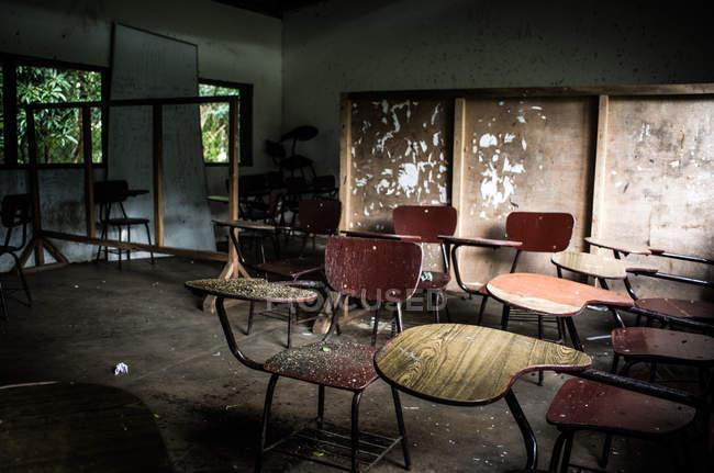 Sala de aula lixeira — Fotografia de Stock