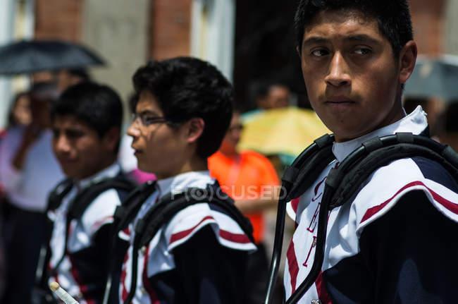 Jovens na banda — Fotografia de Stock
