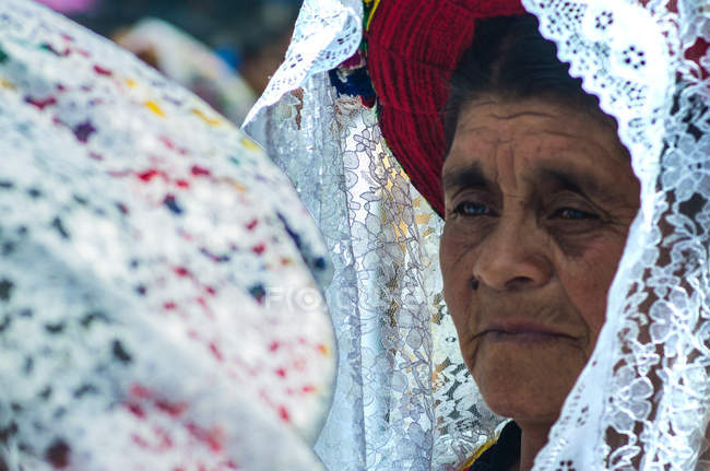 Portrait of Guatemalan senior woman — Stock Photo