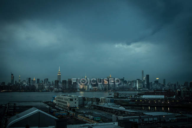 Vue des toits de district de Brooklyn — Photo de stock