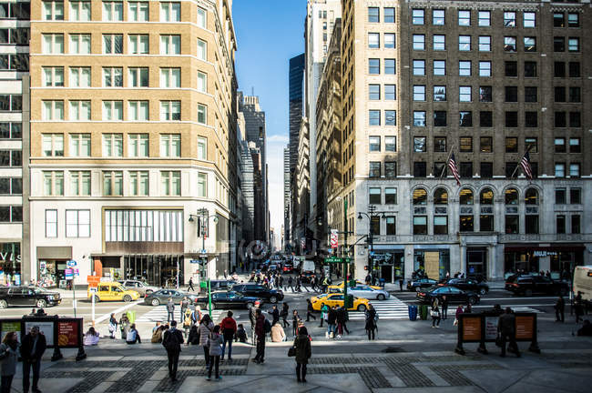 Street scene at Manhattan — Stock Photo