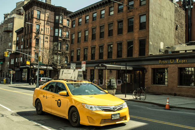 Taxi giallo di New York — Foto stock