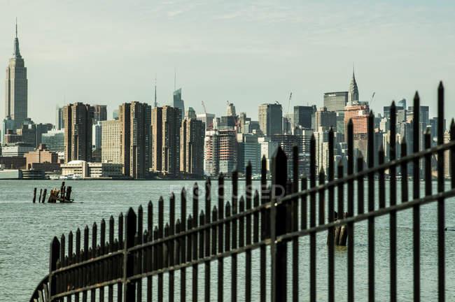 Vista del distrito de Manhattan - foto de stock