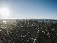 New York City bei Sonnenaufgang — Stockfoto