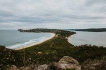 Vista del paisaje en la playa de Palma - foto de stock
