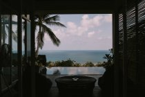 View from room of tropical spa resort — Stock Photo