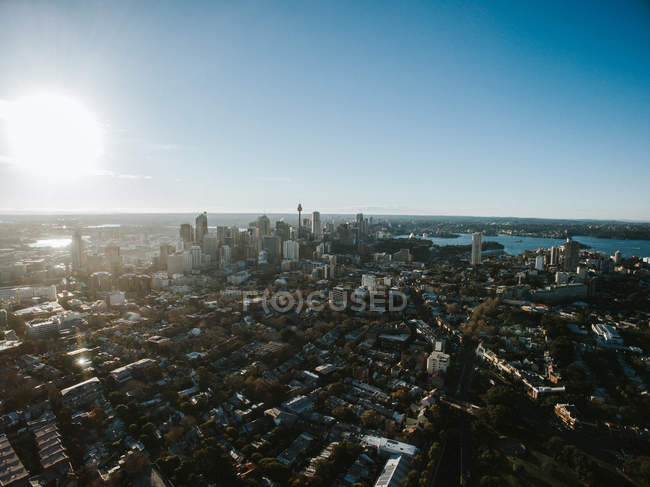 Vista aerea di Sydney downtown — Foto stock