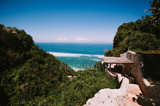Vista di paesaggio su tropical resort — Foto stock