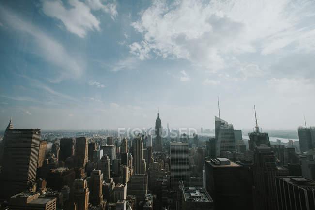 Vista aérea del horizonte de Nueva York - foto de stock