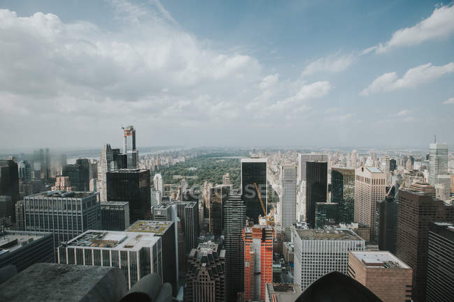 Vue aérienne de la skyline de New York — Photo de stock