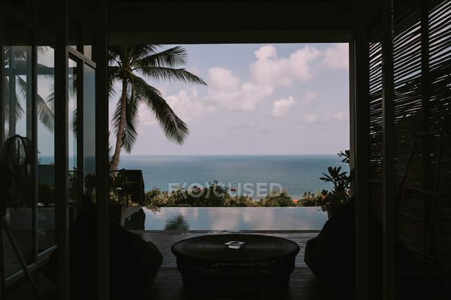 Vista dalla camera tropical spa Resort — Foto stock