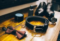Acessórios para o terno do casamento — Fotografia de Stock