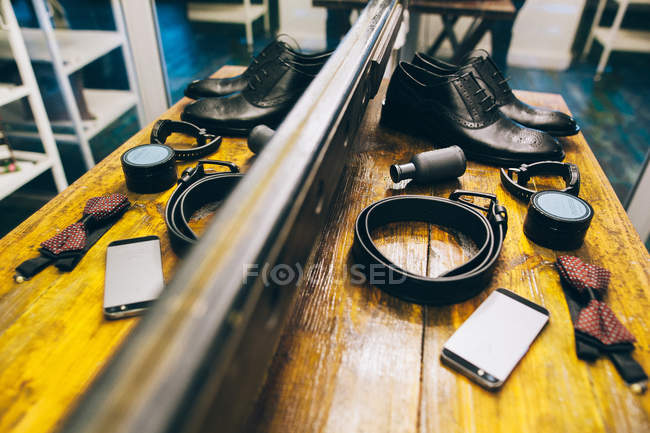 Accessories for wedding suit — Stock Photo