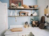 Intérieur de cuisine domestique — Photo de stock
