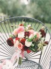 Fresh cut bouquet with chrysanthemums — Stock Photo