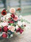 Bouquet taglio fresco con crisantemi — Foto stock