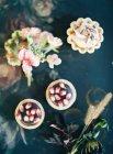Homemade fruit desserts — Stock Photo
