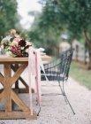 Свежий вырезанный букет с хризантемами — стоковое фото
