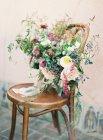 Свежий букет летних цветов — стоковое фото