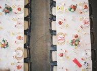 Hochzeitstische festlegen — Stockfoto
