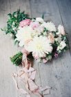 Wedding bouquet with daisies — Stock Photo