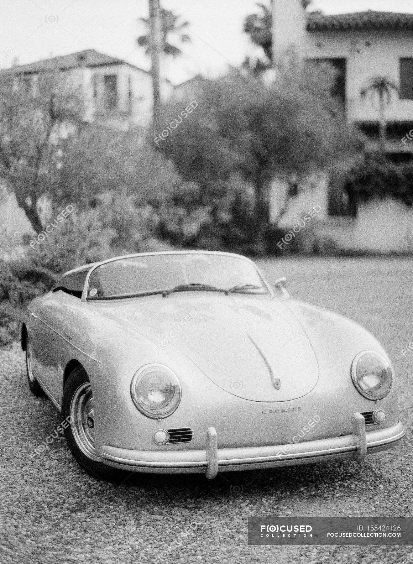 Vintage Porsche Cabriolet Car Automobile Polished Stock Photo 155424126