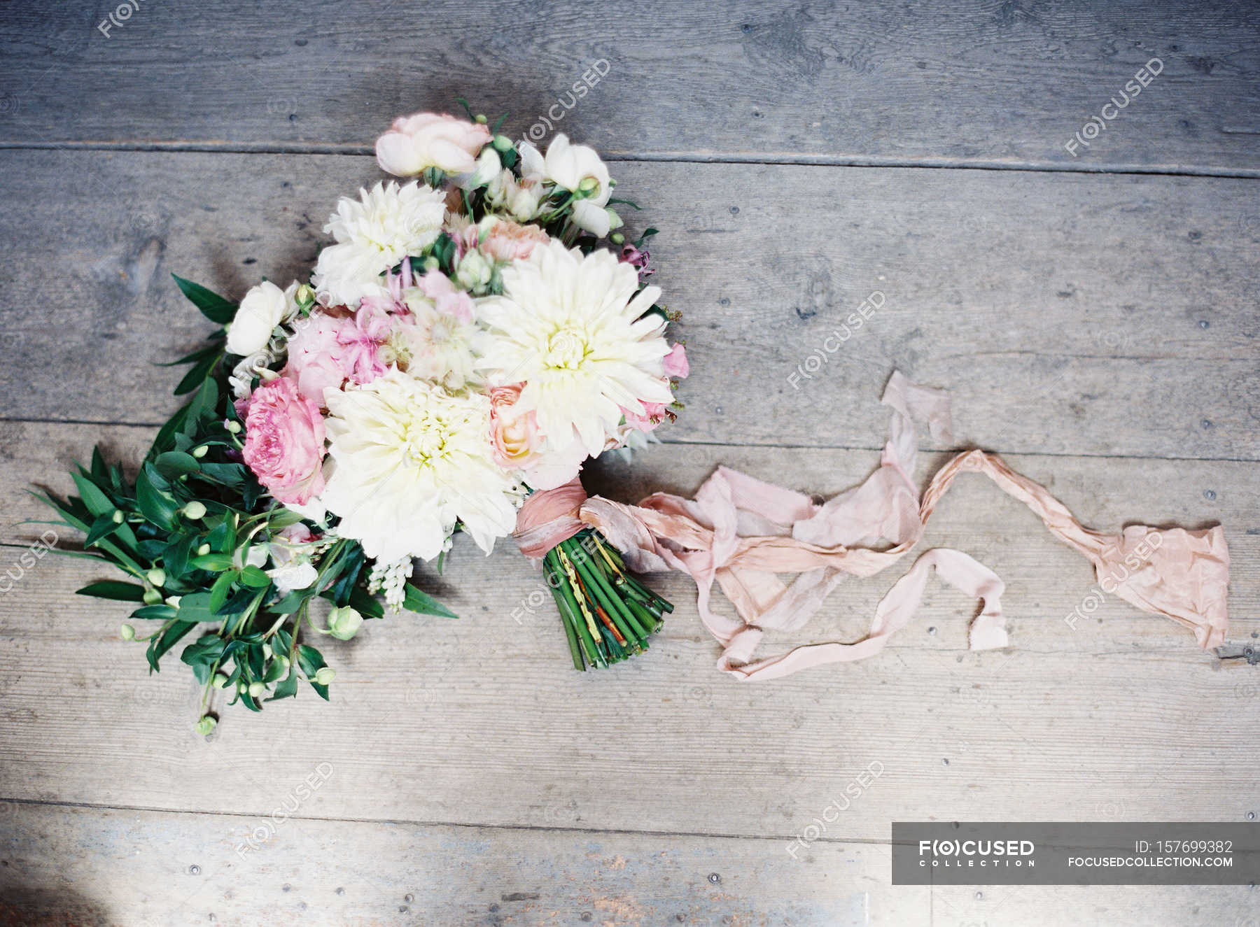 Wedding Bouquet With Daisies Stock Photo 157699382