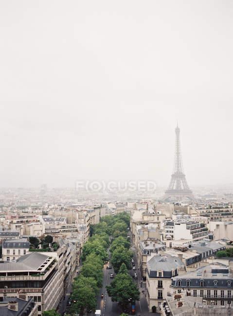 Parigi con la torre eiffel — Foto stock