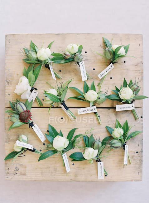 Wedding floral arrangements — Stock Photo