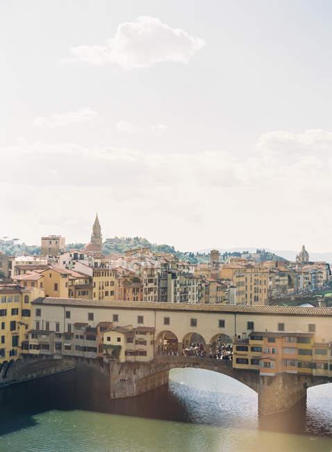Florença com ponte Ponte Vecchio — Fotografia de Stock