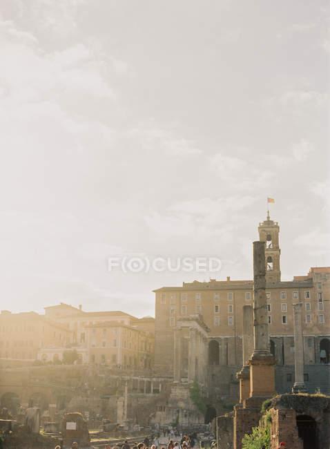 Fórum de Troia em Roma — Fotografia de Stock
