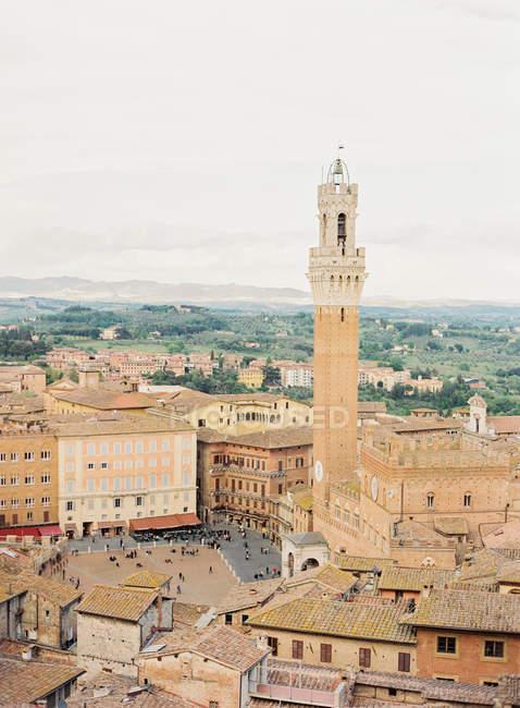 Centro histórico de Siena no dia — Fotografia de Stock