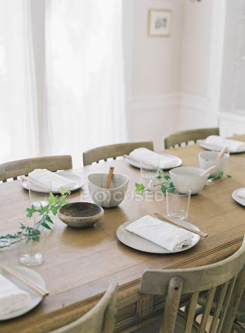 Dinner setting table — Stock Photo