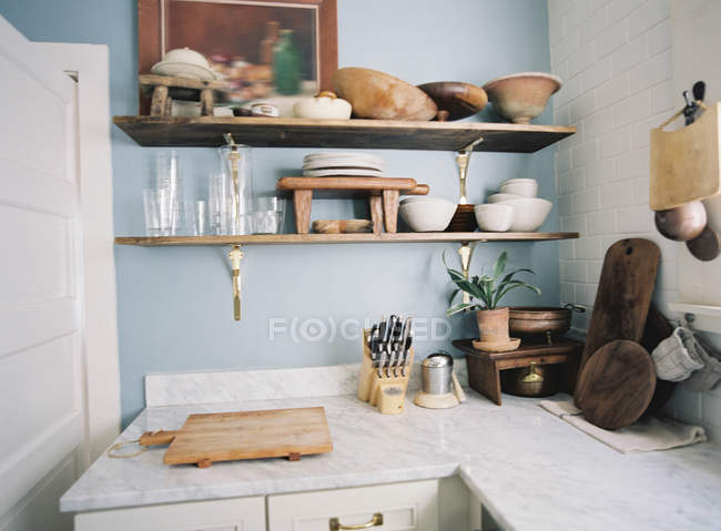 Interior of domestic kitchen — Stock Photo