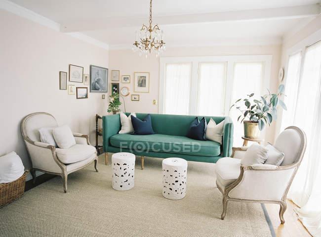 Interior de la sala de estar - foto de stock
