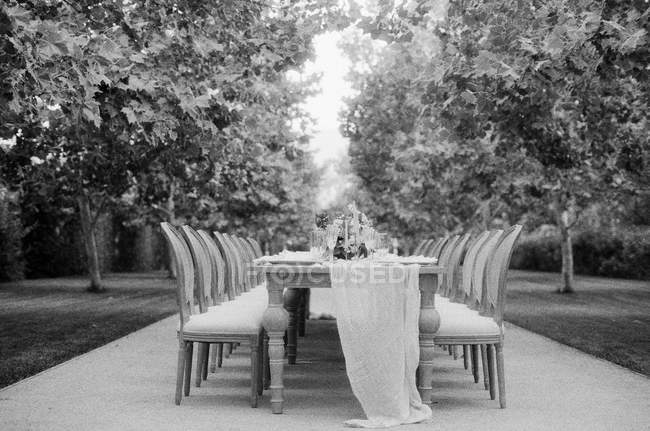 Wedding table with chairs — Stock Photo