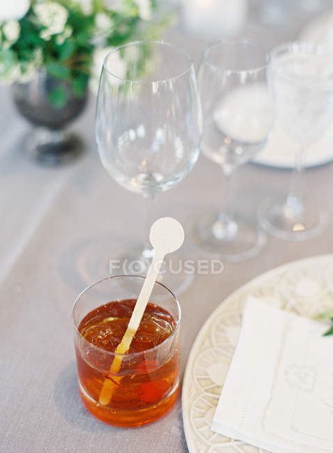 Cocktail drink in glass — Stock Photo