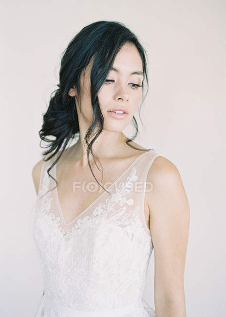 Woman with makeup looking at camera — Stock Photo