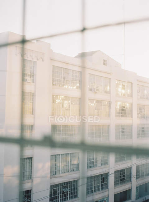 Vista de fachada de edifícios — Fotografia de Stock